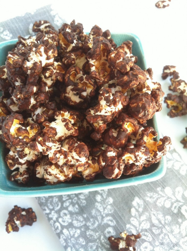 Spicy Dark Chocolate Popcorn