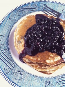 Whole Wheat Blueberry Pancakes with Meyer Lemon Blueberry Syrup_2